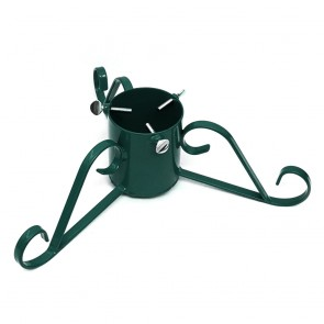 "Holly Traditional Scroll Leg Metal Christmas Tree Stand 4"" - Green"