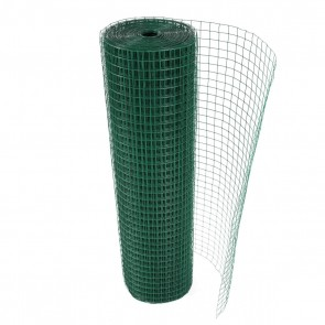 Square Welded Mesh with Green Plastic Finish