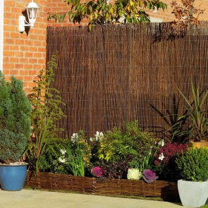 Premium Air Dried Willow Natural Wood Fence Privacy Screening 3m x 1.8m