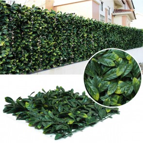 Artificial Laurel Leaf Hedge Panels - 500mm x 500mm