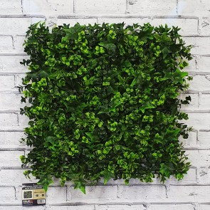 Artificial Green Living Wall Hedge Ivy Panel 50 x 50cm