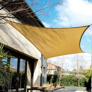 Coolaroo Shade Sail Rectangle - Desert Sand