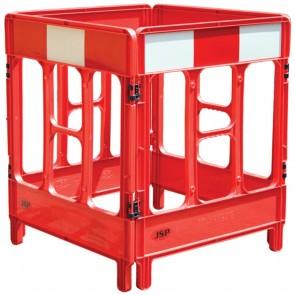 JSP Workgate Communications Utility Plastic Barrier - 4 Gate Red