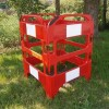 Oxford Safegate Folding Communication Manhole Plastic Barrier - Red - Pallet