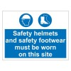 HELMETS FOOTWEAR 600 x 450mm Sign