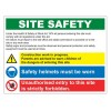 SITE SAFETY 600 x 800mm Sign