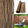Willow Natural Wood Garden Fence Privacy Screening 4m Long Roll