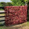 Artificial Red Acer Expanding Willow Trellis Hedge