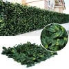 Pack of 4 Artificial Laurel Leaf Hedge Panels - 500mm x 500mm
