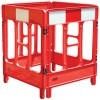 JSP Workgate Communications Utility Plastic Barrier - 4 Gate Red