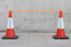 Orange Hi-Vis Traffic Cone Barrier Tape with Cones