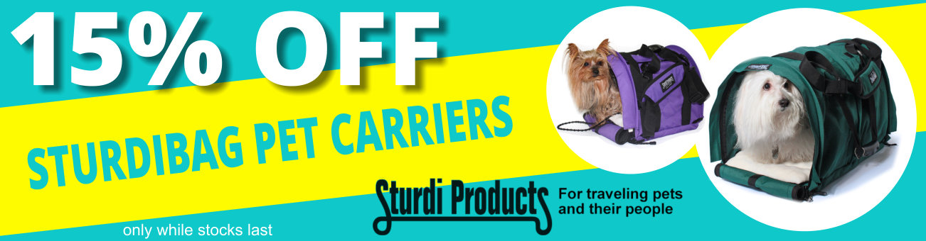 15% Off All Sturdibag Pet Carriers