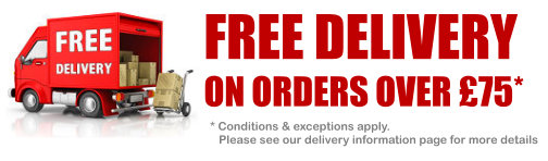 Free Delivery on Orders of £75 or more
